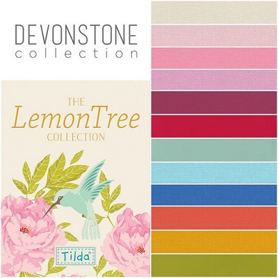 Devonstone Collection - Half Metre Bundle of 12 solids Co-ordinating with Tilda LemonTree
