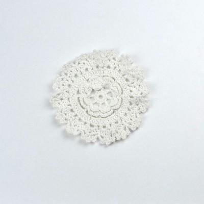Cotton Crochet Doily - Small in White