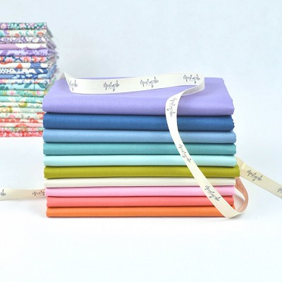 Devonstone Collection - Fat Quarter Bundle of 10 solids Co-ordinating with Tilda Lazy Days