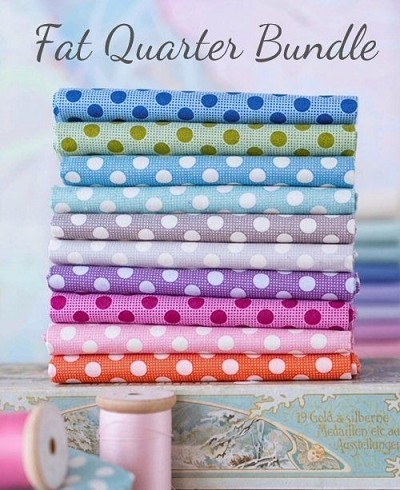 Tilda - Birdpond Medium Dots - Fat Quarter Bundle of 10 fabrics
