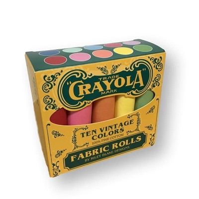 Riley Blake Designs - Vintage Crayola Fat Quarter Solid Box of 10 pieces