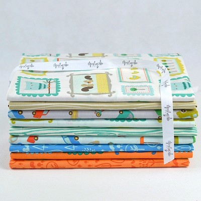 Riley Blake Designs - Scenic Route Half Metre Bundle of 9 Pieces