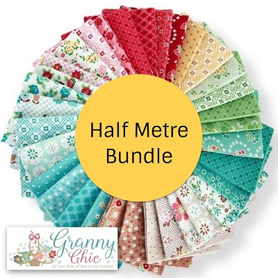 Riley Blake Designs Granny Chic Half Metre Bundle of 26 Pieces