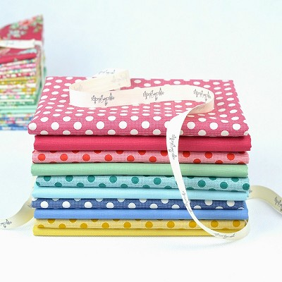Tilda - Apple Butter Medium Dots and Solids - Half Metre Bundle of 10 fabrics