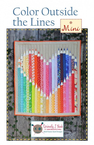 Color Outside The Lines MINI Quilt Pattern