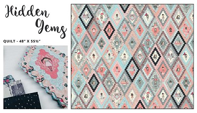Hidden Gems Quilt Kit in Suitcase by Sue Daley Designs