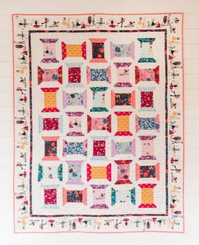 Michael Miller Little Sewists Just Spoolin Quilt Kit