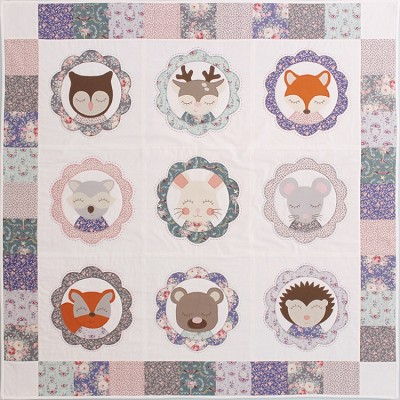 Forest Family Quilt Kit by Molly and Mama