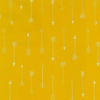 Michael Miller - Arrow Flight - Arrows in Gold with Gold metallic accents