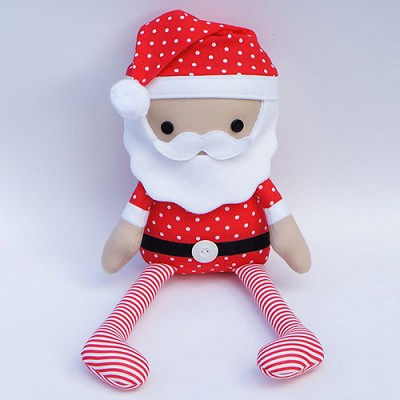 Melly and Me - Jolly Mister Claus Softie Pattern