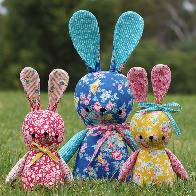 Melly and Me - Betsy and Bubs Bunny Softie Kit - Set of 3