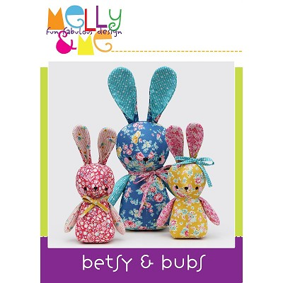 Melly and Me - Betsy and Bubs Bunny Softie Pattern