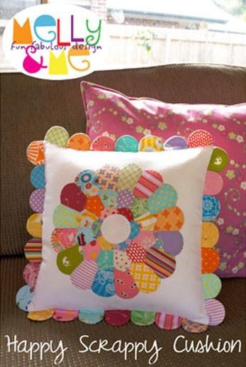Melly and Me - Happy Scrappy Cushion Pattern