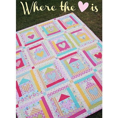 Melly and Me - Where The Heart Is Quilt Pattern