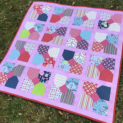 Melly and Me - Flutterberry Fields Quilt Pattern