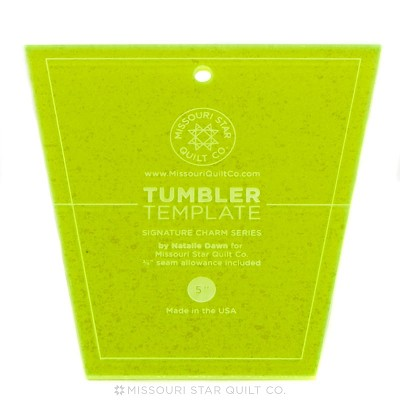 "Missouri Star Quilt Co - Small Tumbler Template for 5"" Charm Packs"
