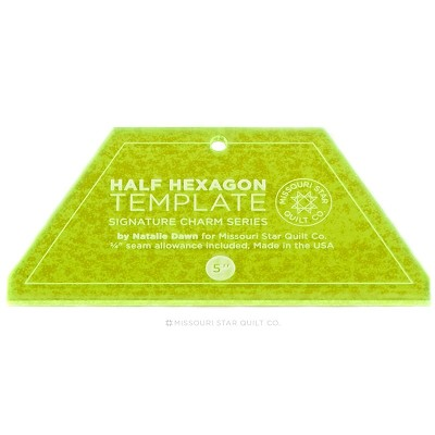 "Missouri Star Quilt Co - Small Half Hexagon Template for 5"" Charm Packs and 2.5"" Strips"