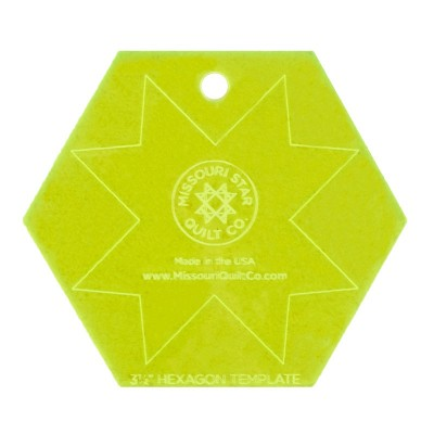 "Missouri Star Quilt Co - 3.5"" Hexagon Template"