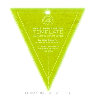 "Missouri Star Quilt Co - Small Simple Wedge Template for 5"" Charm Packs"