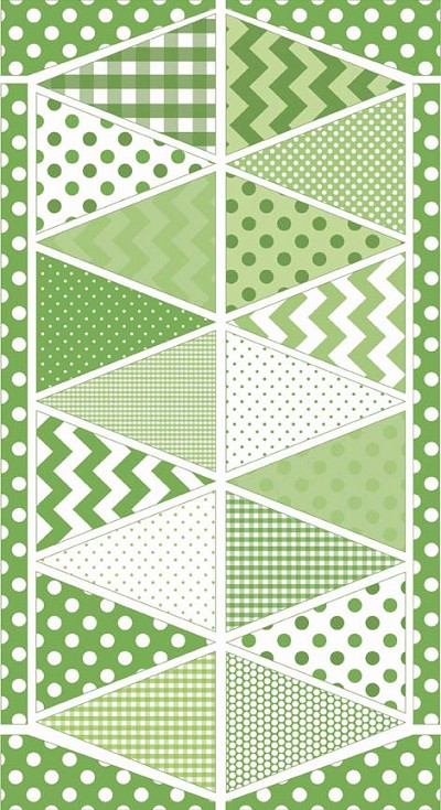 Riley Blake Designs - Bunting Panel in Green