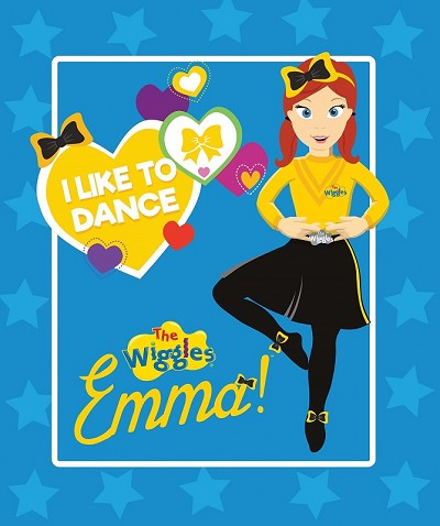 Riley Blake Designs The Wiggles Ready Steady Wiggle! - Emma Panel in Blue