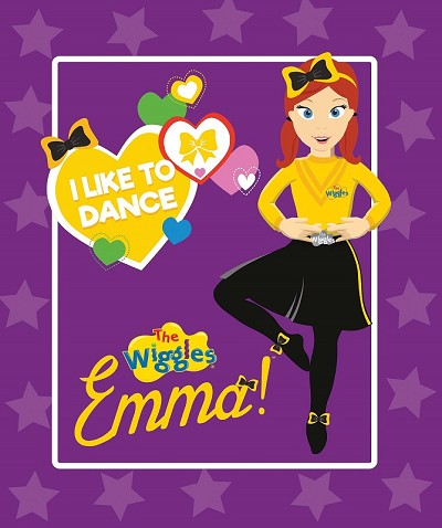 Riley Blake Designs The Wiggles Ready Steady Wiggle! - Emma Panel in Purple