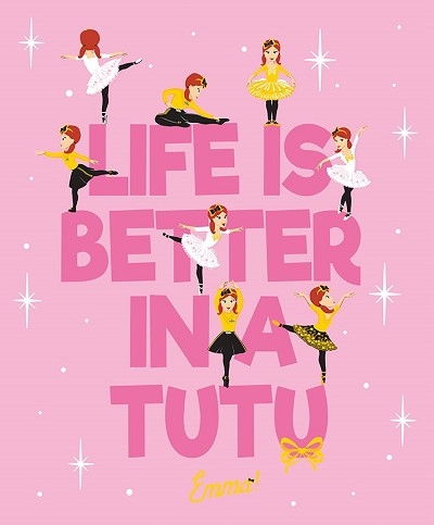 Riley Blake Designs Emma Life is Better in a Tutu Panel in Pink *** PRE-ORDER - ARRIVING END OF MARCH 2020 ***