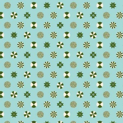 Freespirit Fabrics - Holiday Homies by Tula Pink - Peppermint Stars - Pine Fresh