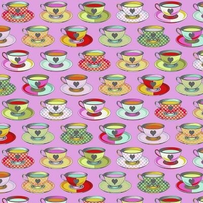 Freespirit Fabrics Tula Pink Curiouser and Curiouser Tea Time in Wonder *** PRE-ORDER - ARRIVING JUNE 2021 ***