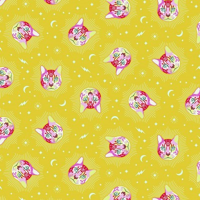 Freespirit Fabrics Tula Pink Curiouser and Curiouser Chesire in Wonder *** PRE-ORDER - ARRIVING JUNE 2021 ***