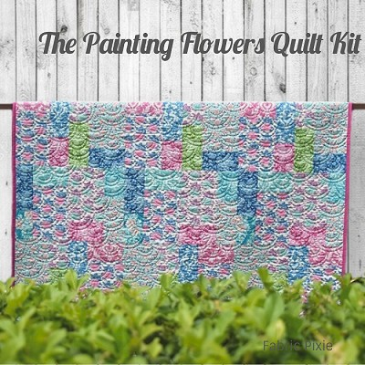 Tilda - Painting Flowers Quilt Kit made in Tilda Sunkiss