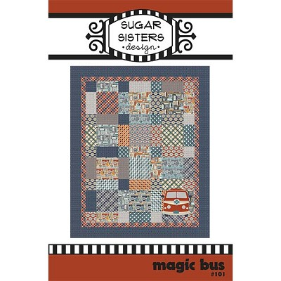 "Sugar Sisters Design - Magic Bus Quilt Pattern 59"" x 73"""