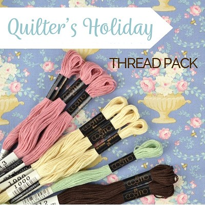 Homespun BOM 2020 - Quilters Holiday Cosmo Thread Pack of 9 Skeins