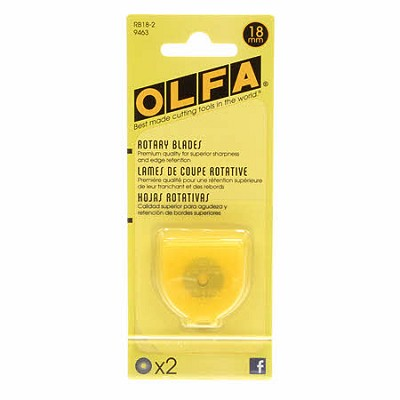 Olfa Replacement Blades for 18mm Rotary Cutter - Pack of 2 Blades