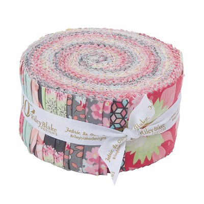 Riley Blake Designs Paper Daisies 2.5 Inch Rolie Polie of 40 Pieces