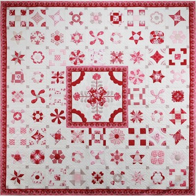 Sue Daley Designs Raspberry Parlour Sew Along Quilt Kit