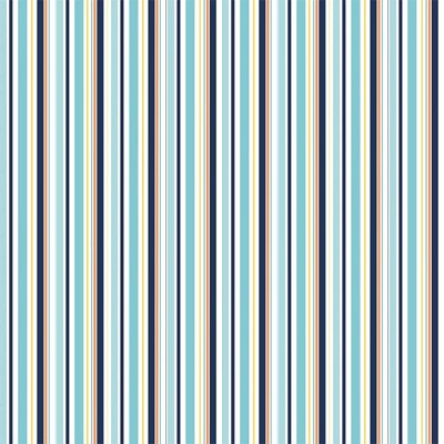 Riley Blake Designs - Pieces of Hope 2 - Stripes in Blue *** REMNANT 3.92 METRE PIECE ***