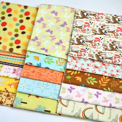 "Fabric Scrap Bag 9"" Strips suitable for Face Masks/Scrunchies - Nature Lovers"