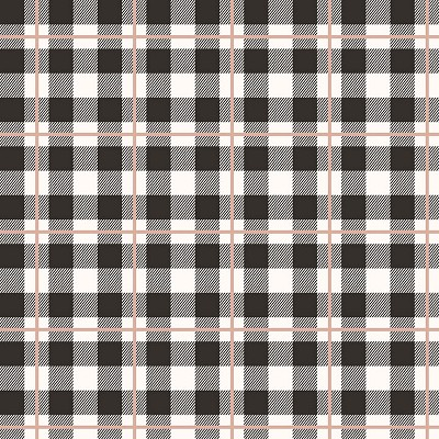 Riley Blake Designs - Yes Please Plaid Black with Rose Gold Metallic