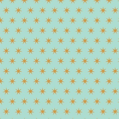 Riley Blake Designs - Just Sayin' Star Mint Sparkle