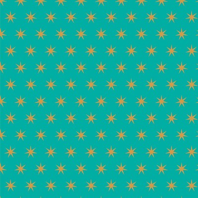 Riley Blake Designs - Just Sayin' Star Teal Sparkle