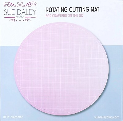 "Sue Daley 10"" Rotating Cutting Mat with Gridlines"