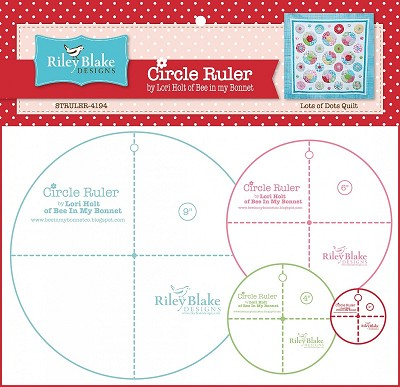 Riley Blake Designs - Circle Ruler Set by Lori Holt 4 pcs