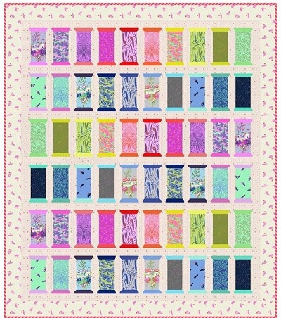 Freespirit Tula Pink Spool for Love Quilt Kit in HomeMade *** PRE-ORDER - ARRIVING END OF MAY 2020 ***