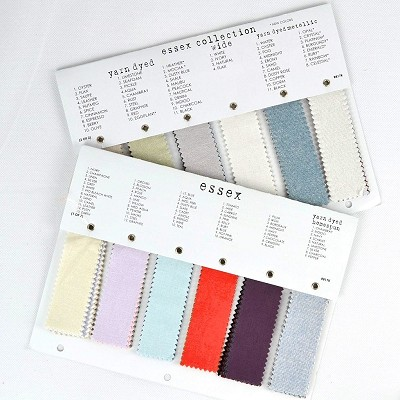 Robert Kaufman - Essex Linen Collection Colour Swatch Chart