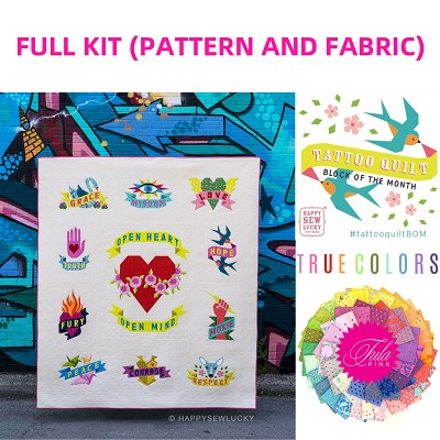 Tattoo Quilt FULL KIT in Tula Pink True Colors