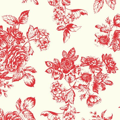 Andover Fabrics - Katie Jane Toile in Red