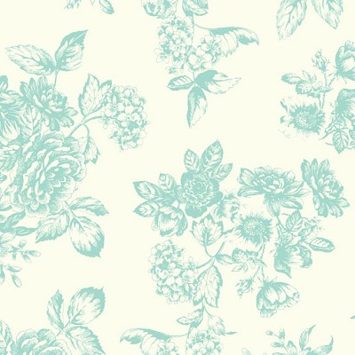 Andover Fabrics - Katie Jane Toile in Teal