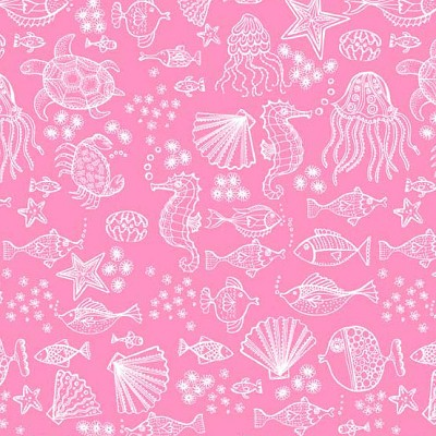 Andover Fabrics - Merryn Outline Tonal in Pink