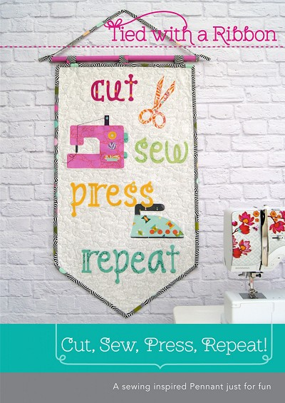 Tied with a Ribbon Cut, Sew, Press, Repeat Pennant/Mini Quilt Pattern
